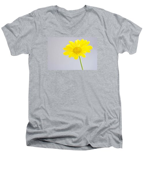 Yellow Drops Men's V-Neck T-Shirt by Shelly Gunderson