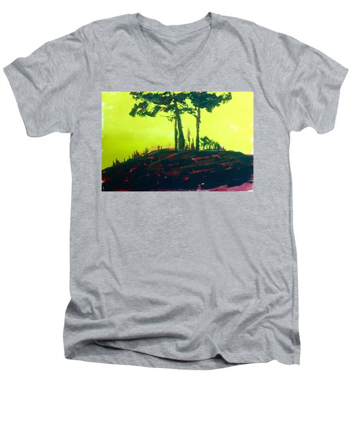 Yellow Dusk Men's V-Neck T-Shirt