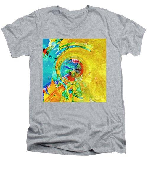 Yellow Eclipse  Men's V-Neck T-Shirt