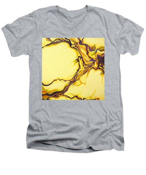 Yellow Flow Men's V-Neck T-Shirt