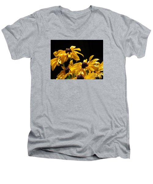 Yellow Flower 2 Men's V-Neck T-Shirt