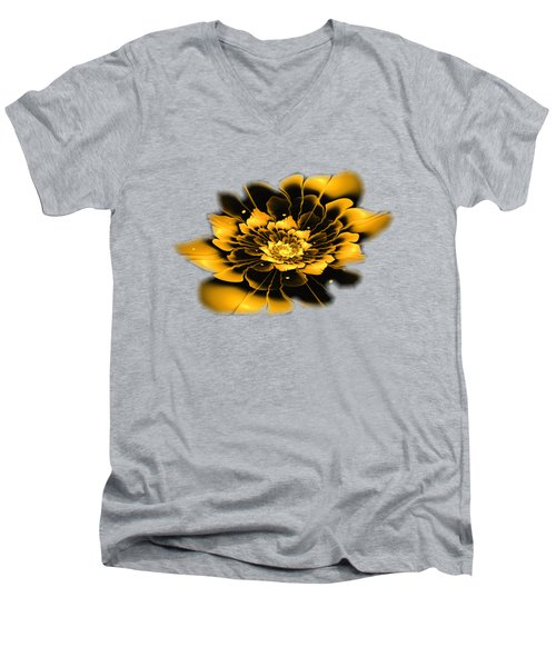 Yellow Flower Men's V-Neck T-Shirt by Anastasiya Malakhova