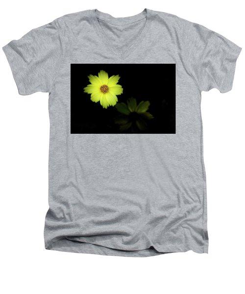 Yellow Flower Men's V-Neck T-Shirt by Jay Stockhaus