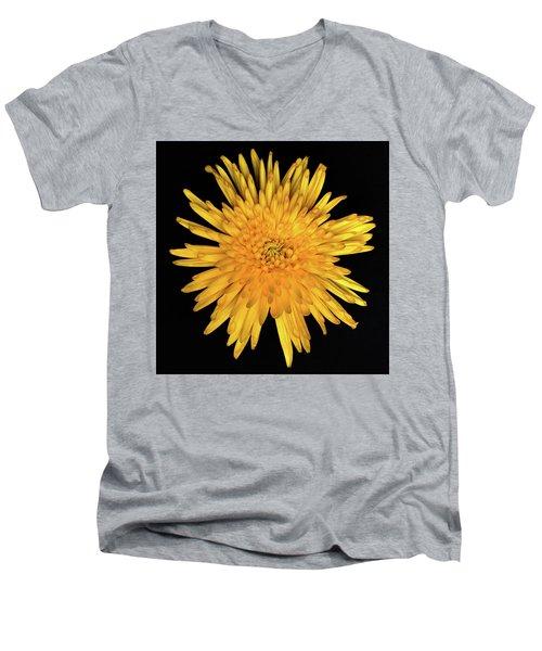 Yellow Flower Macro Men's V-Neck T-Shirt