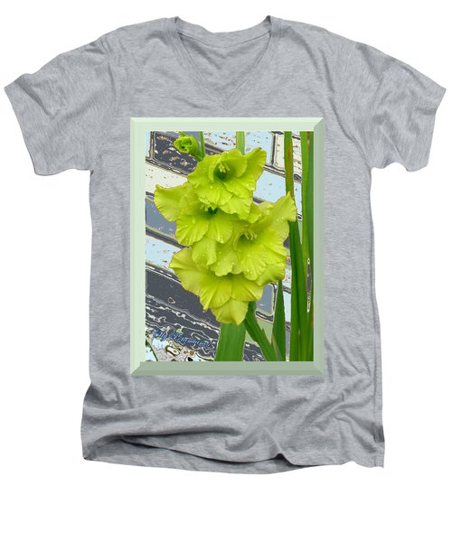 Yellow Gladiolas Men's V-Neck T-Shirt