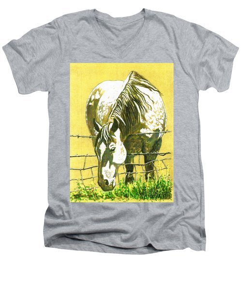 Yellow Horse Men's V-Neck T-Shirt