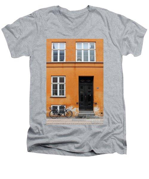 The Orange House Copenhagen Denmark Men's V-Neck T-Shirt