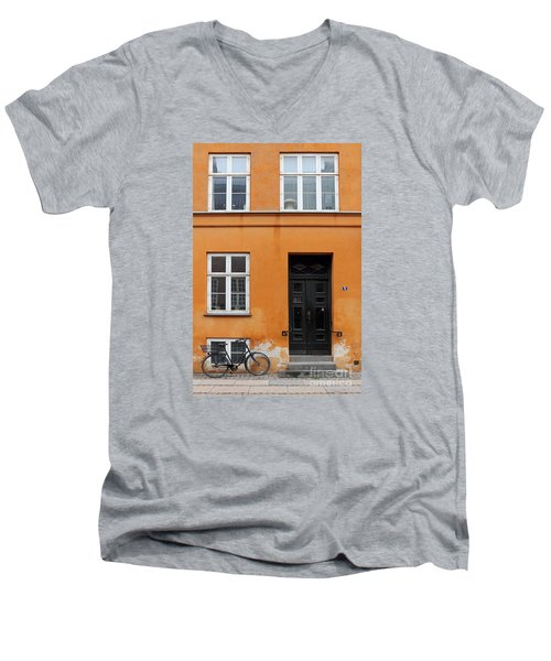 The Orange House Copenhagen Denmark Men's V-Neck T-Shirt