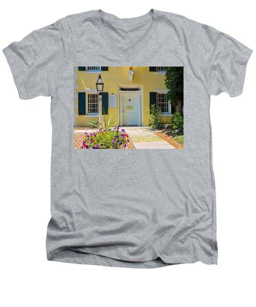 Yellow House In Kingston Men's V-Neck T-Shirt
