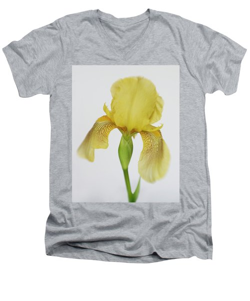 Men's V-Neck T-Shirt featuring the photograph Yellow Iris A Symbol Of Passion by David and Carol Kelly