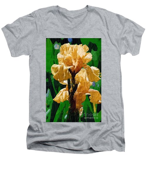 Yellow Iris Men's V-Neck T-Shirt