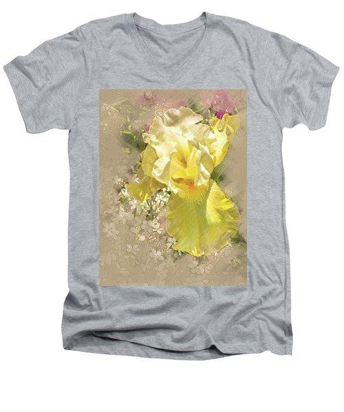 Yellow Iris Men's V-Neck T-Shirt