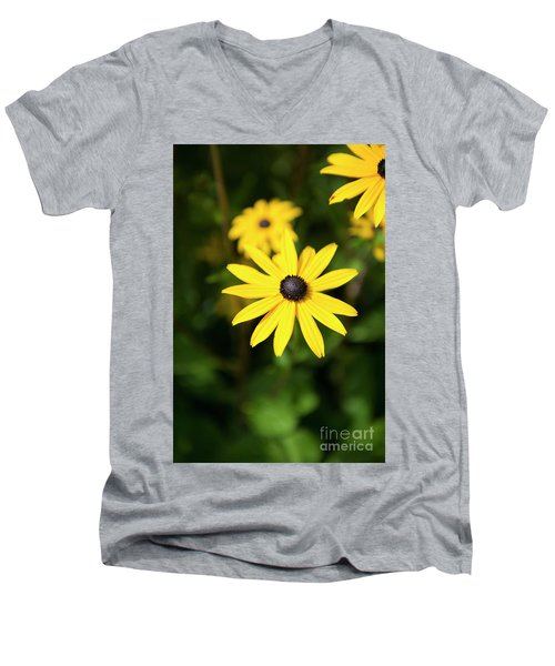 Yellow Men's V-Neck T-Shirt