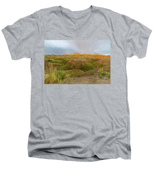 Yellow Mounds Morning Men's V-Neck T-Shirt
