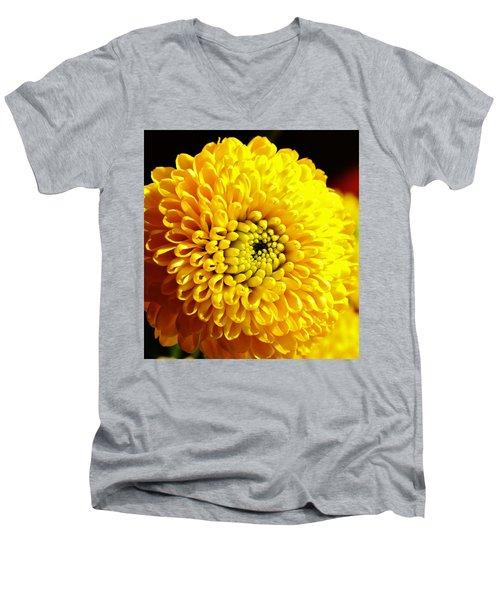 Yellow Mum Men's V-Neck T-Shirt