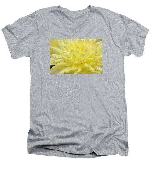 Yellow Mum Men's V-Neck T-Shirt by Jim Gillen