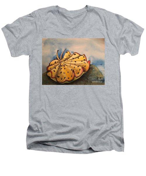 Yellow Nudibranch Men's V-Neck T-Shirt
