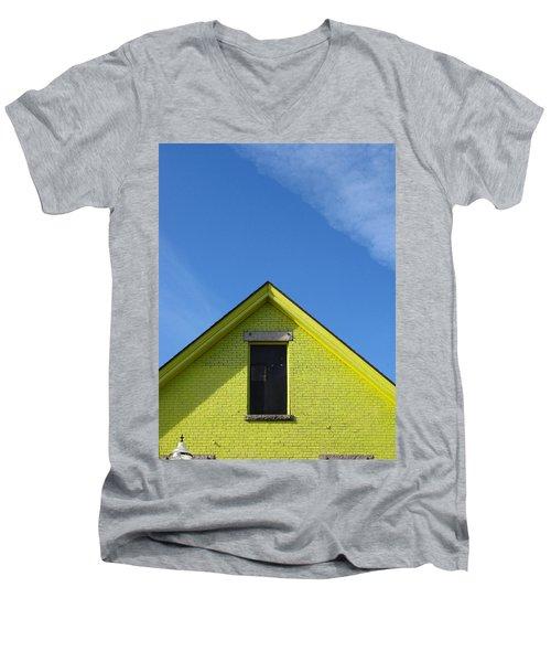 Yellow Peak Men's V-Neck T-Shirt