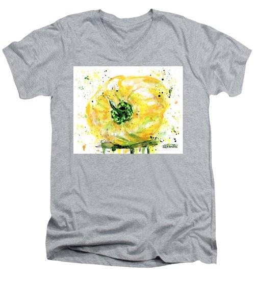 Yellow Pepper Men's V-Neck T-Shirt by Arleana Holtzmann
