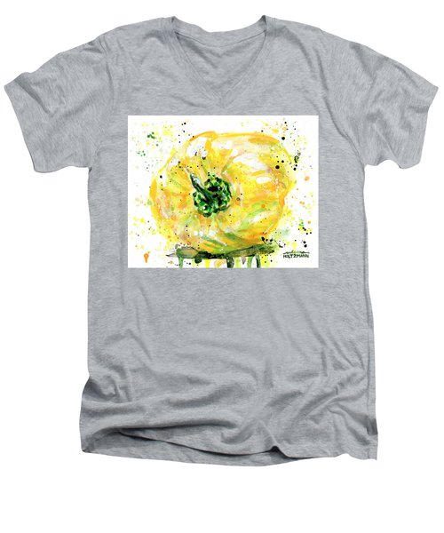 Yellow Pepper Men's V-Neck T-Shirt