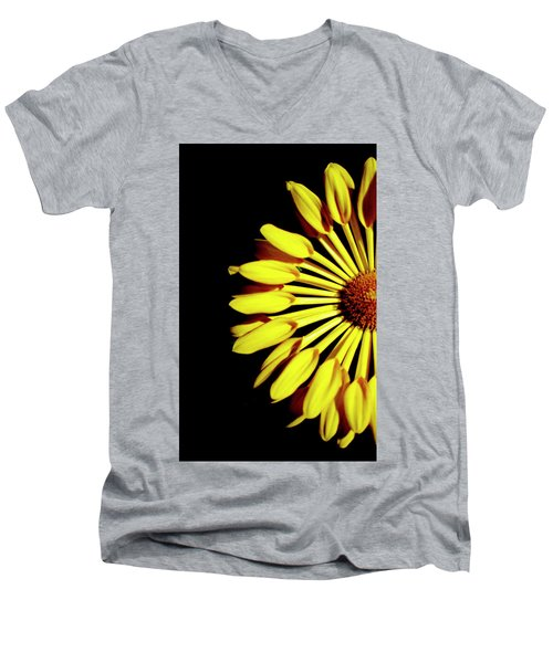 Yellow Petals Men's V-Neck T-Shirt