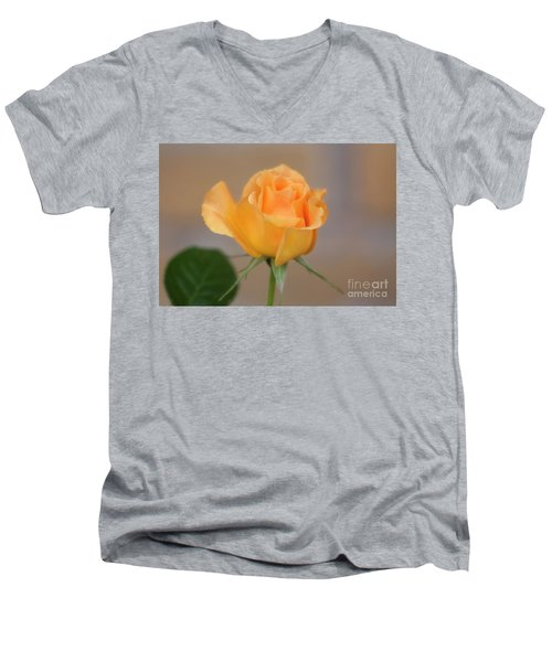 Yellow Rose Of Texas Men's V-Neck T-Shirt by Joan Bertucci