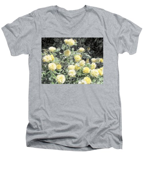 Yellow Roses Men's V-Neck T-Shirt