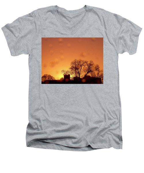 Yellow Sun Men's V-Neck T-Shirt