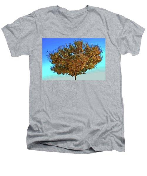 Yellow Tree Blue Sky Men's V-Neck T-Shirt by Matt Harang