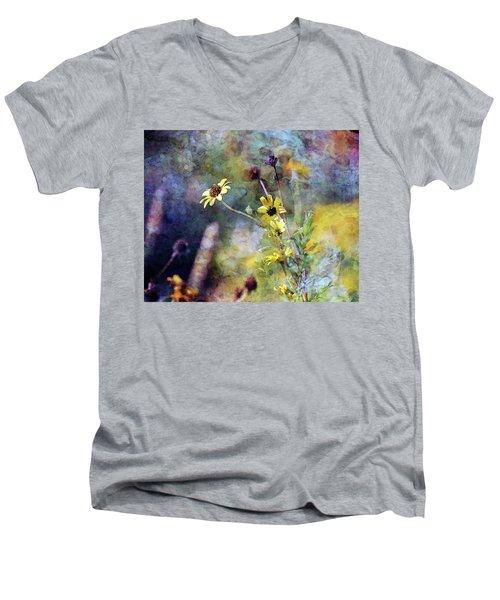 Yellow Wildflowers 3230 Idp_2 Men's V-Neck T-Shirt