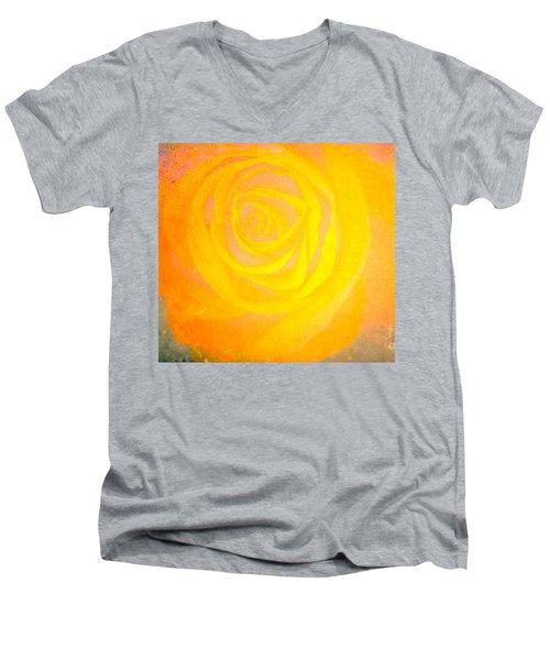 Yelloworange Rose Men's V-Neck T-Shirt by Kim Henderson