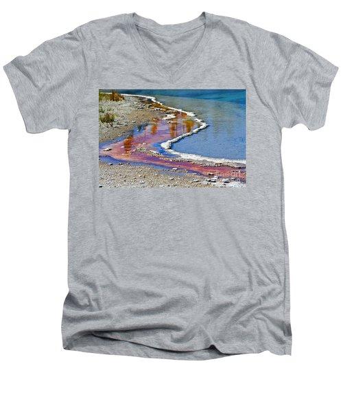 Yellowstone Abstract I Men's V-Neck T-Shirt