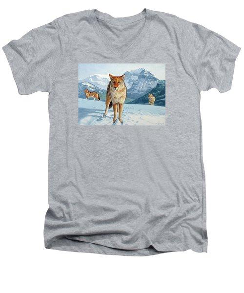 Yellowstone Coyotes Men's V-Neck T-Shirt