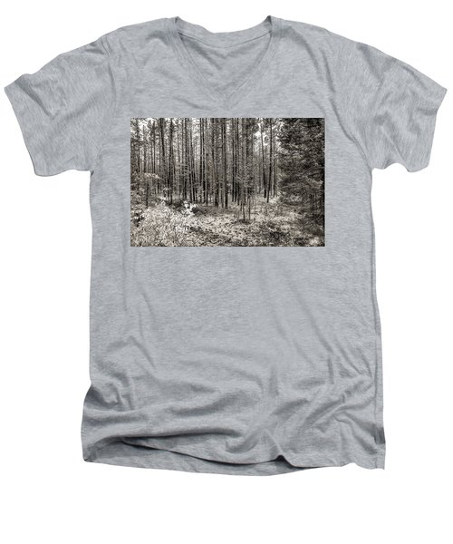 Yellowstone Fire Burn Scar Men's V-Neck T-Shirt