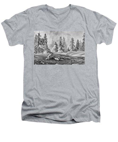 Yellowstone In Winter Men's V-Neck T-Shirt