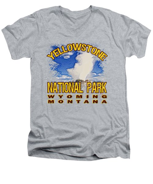 Yellowstone National Park Men's V-Neck T-Shirt