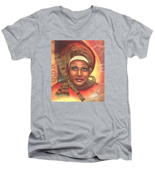Yes . . . One Woman Can . . .  Men's V-Neck T-Shirt by Alga Washington