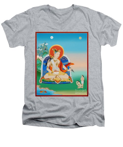 Yeshe Tsogyal Men's V-Neck T-Shirt by Sergey Noskov