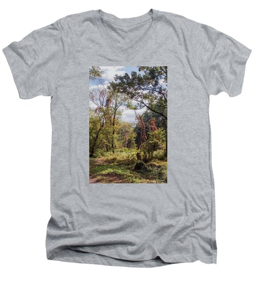 Men's V-Neck T-Shirt featuring the photograph Yesterdays by John Rivera