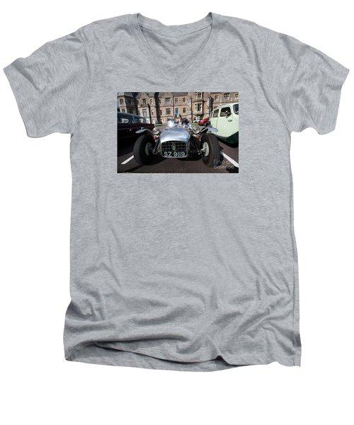 Men's V-Neck T-Shirt featuring the photograph Yesurday  by Gary Bridger