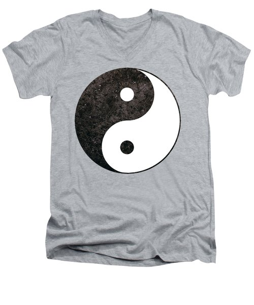 Yin Yang Symbol Men's V-Neck T-Shirt