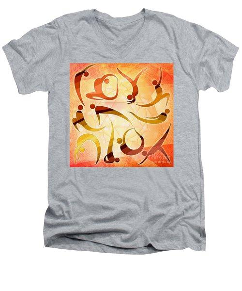 Yoga Asanas Men's V-Neck T-Shirt