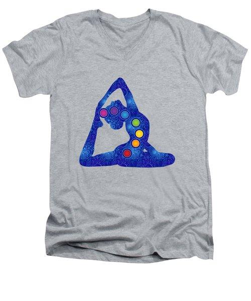 Yoga Pose Chakra Men's V-Neck T-Shirt