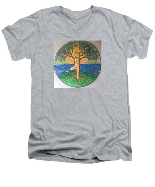 Yoga Tree Pose Men's V-Neck T-Shirt