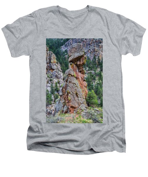 Yogi Bear Rock Formation Men's V-Neck T-Shirt by James BO Insogna