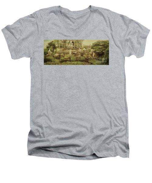 York House Gardens Statues - Twickenham Men's V-Neck T-Shirt