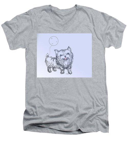 Yorkie Men's V-Neck T-Shirt