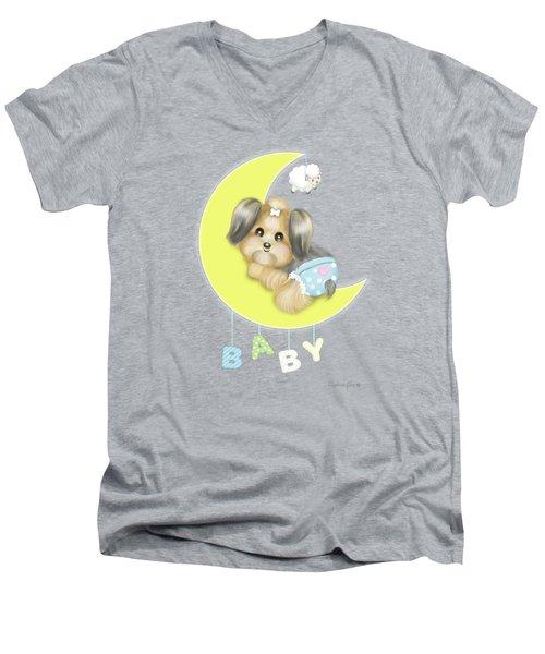 Yorkie Fofa Baby Men's V-Neck T-Shirt