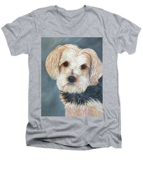 Yorkie Portrait Men's V-Neck T-Shirt