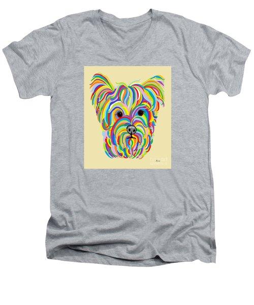 Yorkshire Terrier ... Yorkie Men's V-Neck T-Shirt by Eloise Schneider